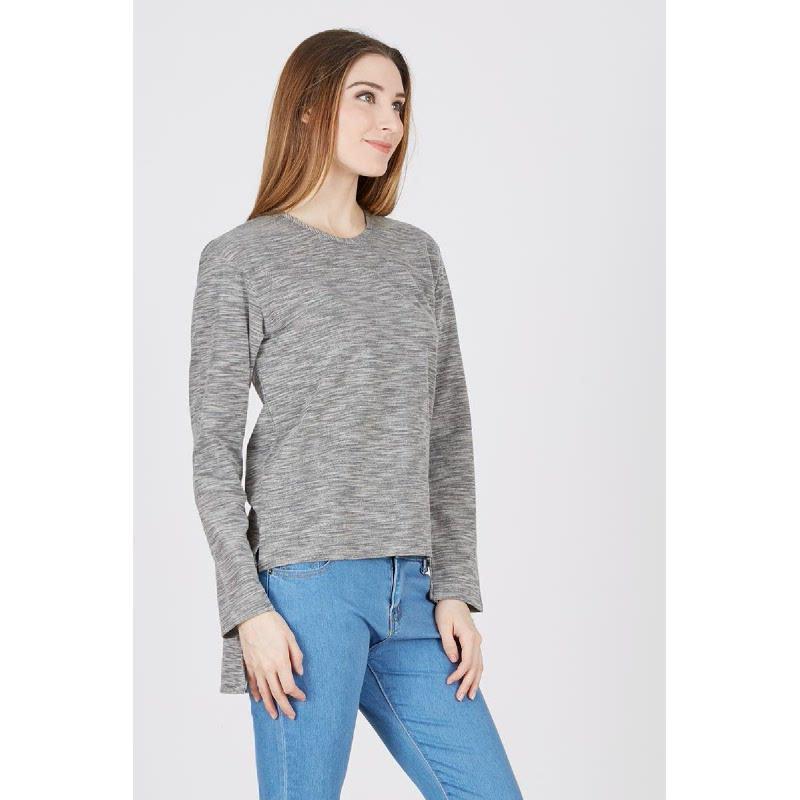 FO Knit Blouse Grey