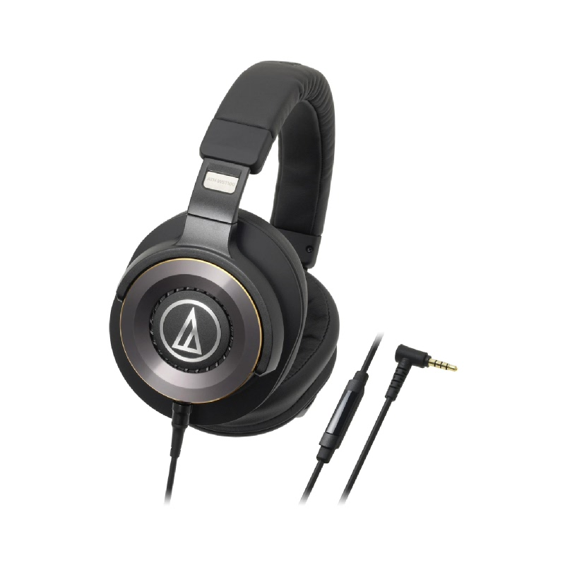 ATH-WS1100iS Solid Bass Over-Ear Headphones with In-line Microphone & Control