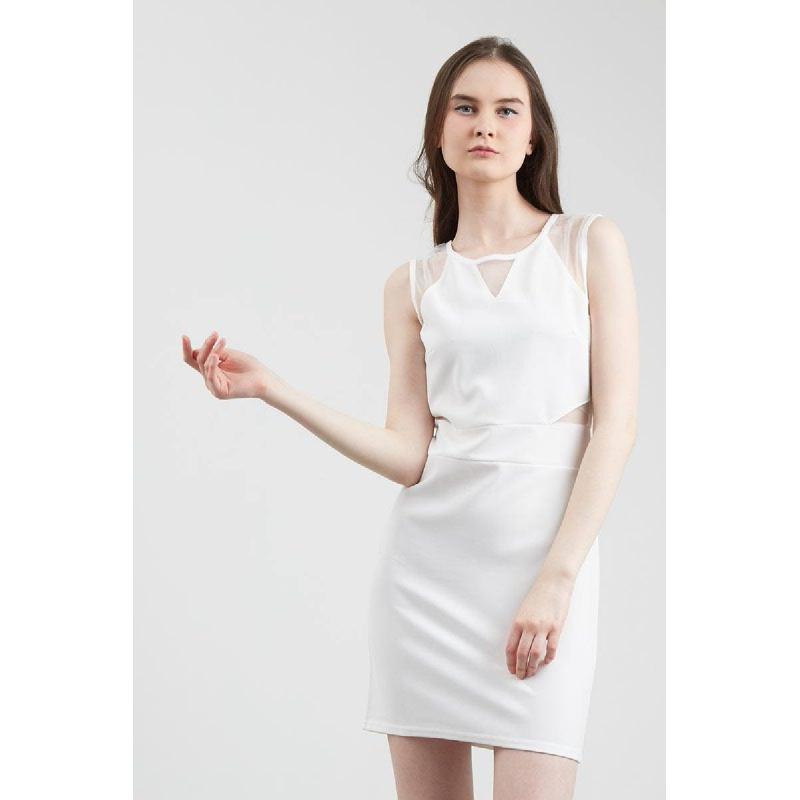 Francois Spalt Dress in White