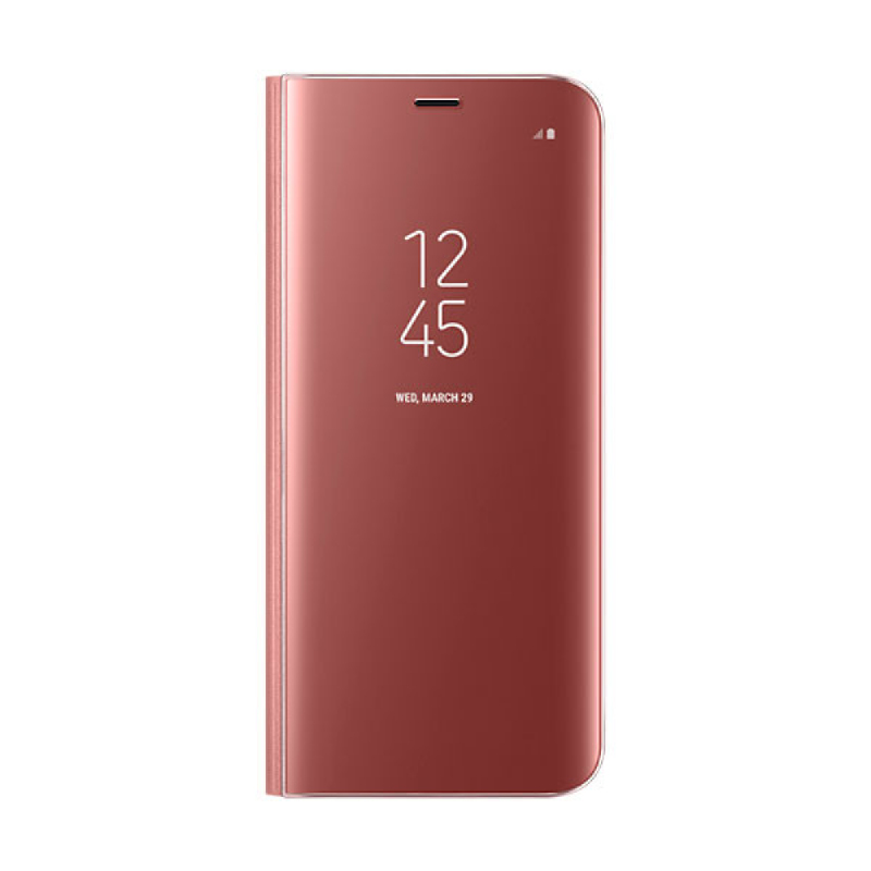Samsung Clear View Standing Cover For Galaxy S8 - Pink