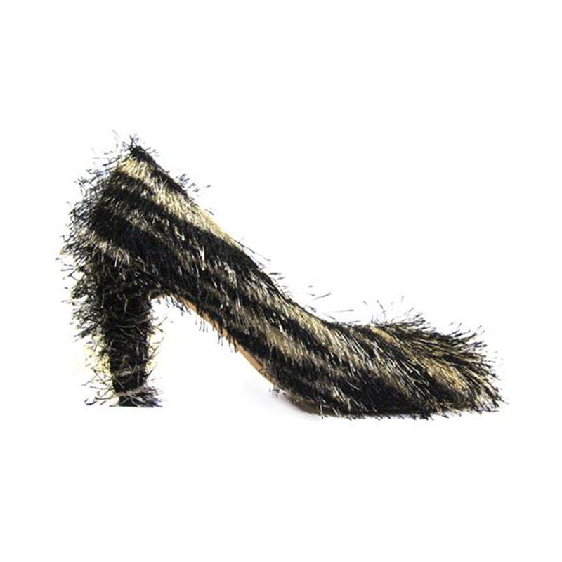 Ella & Glo Ariana Tiger Heels Hitam
