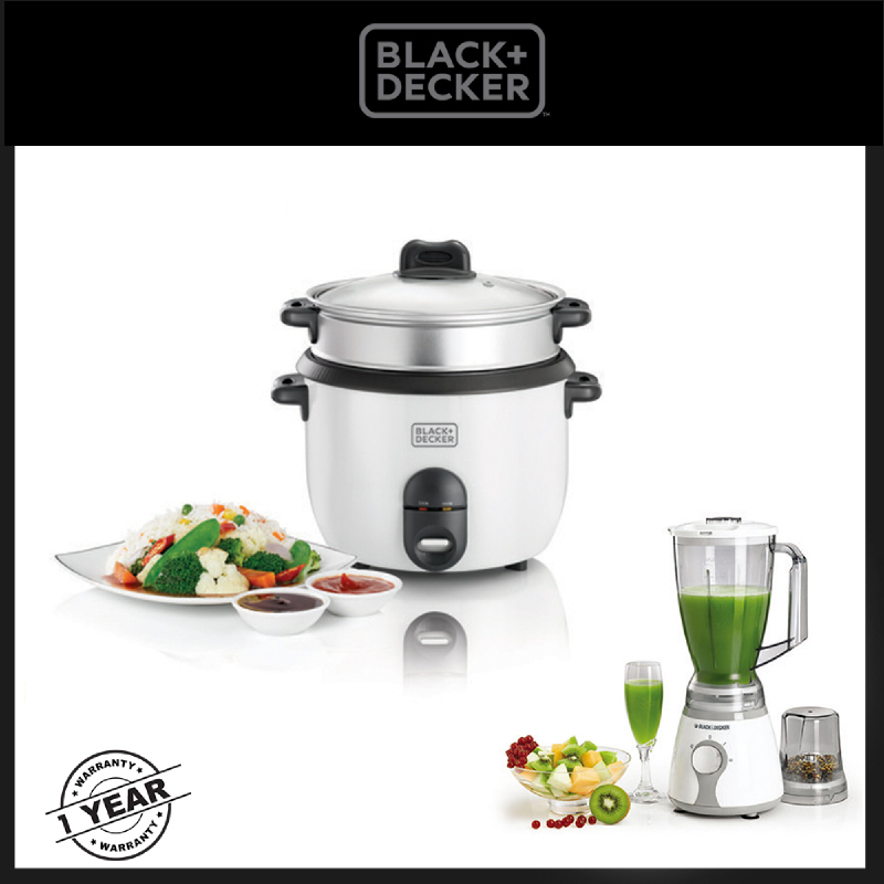 Black and Decker 1.8 Liter Automatic Rice Cooker As2p-RC1860-BX225 Free Blender