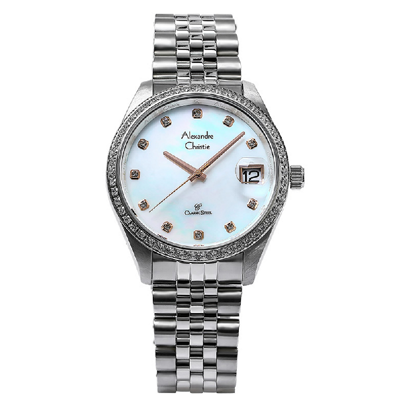 Alexandre Christie AC 5008 MD BSSMS Man Mother of Pearl Dial Stainless Steel
