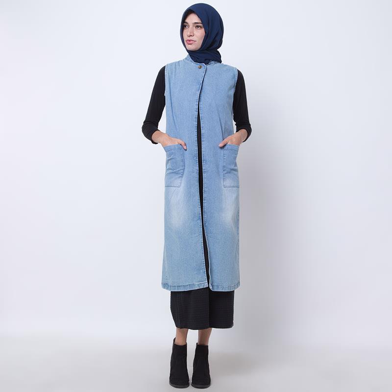 Amsale Outerwear - Light Blue denim - master