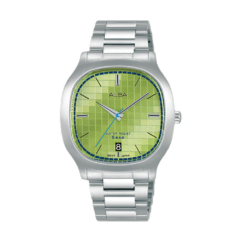 Alba Fusion AS9L75X1 Green Pattern Dial Stainless Steel Strap