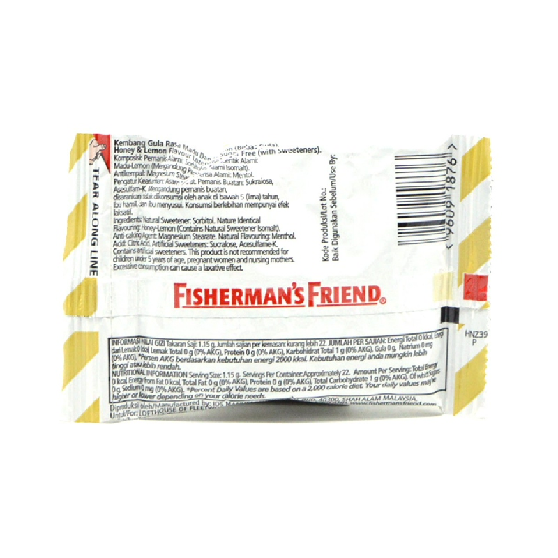 Fishermans Sugar Free Honey Lemon 25G