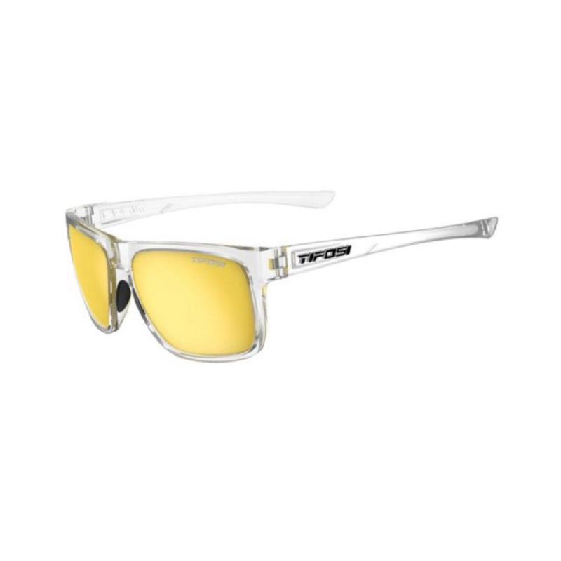Tifosi Swick Crystal Clear Sunglasses Smoke Yellow Lens