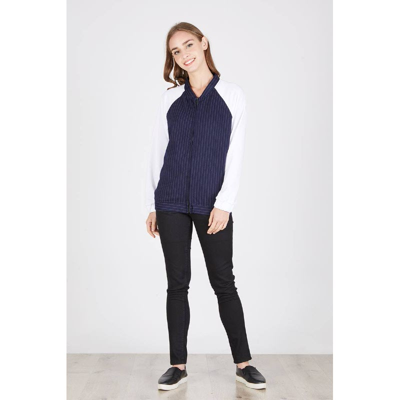 Pepita Bomber Jacket Blue