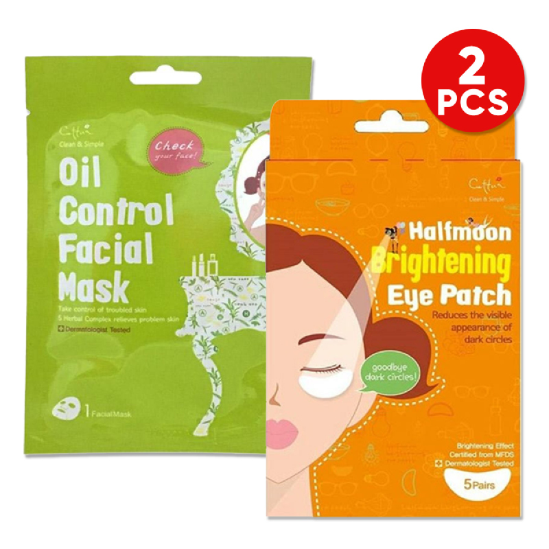 Cettua C&S Oil Control Mask 1S + Cettua Halfmoon Brightening Eye Patch