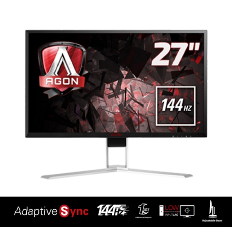 AOC Gaming Monitor AGON AG271QX - Hitam [27 inch, TN, 2560x1440 144Hz]