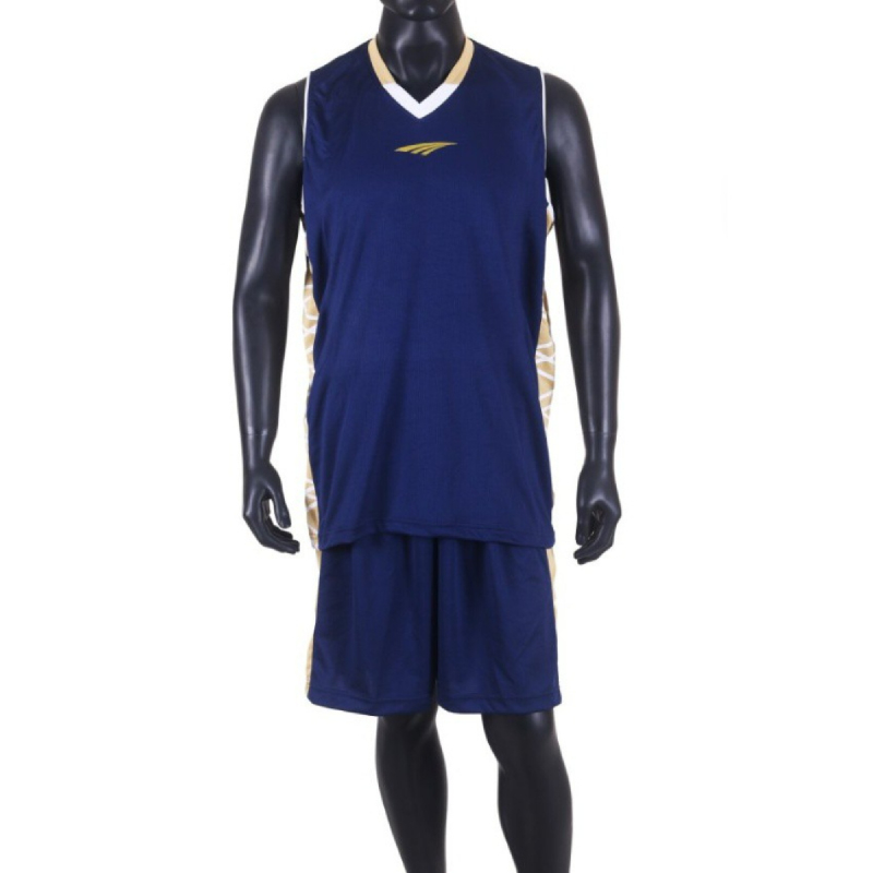 PROTEAM Jersey 3Line BBall Navy-Brown