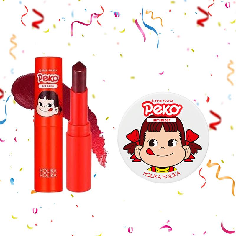 Holika Holika Peko Water Drop Tint Bomb 01 Cherry Water + Peko Milky Jelly Luminizer 6g
