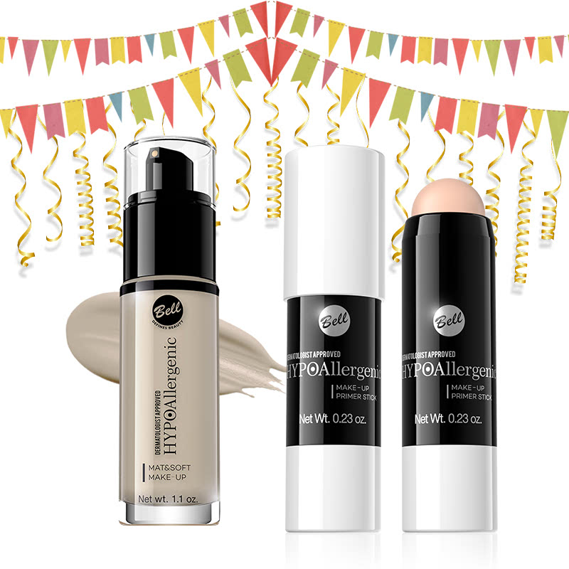 Bell Hypoallergenic Mat&Soft Make-Up 01 Light Beige & Bell Hypoallergenic Make-Up Primer Stick