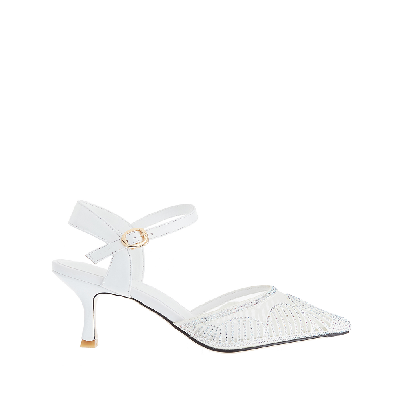 Andre Valentino Cindy Heels White