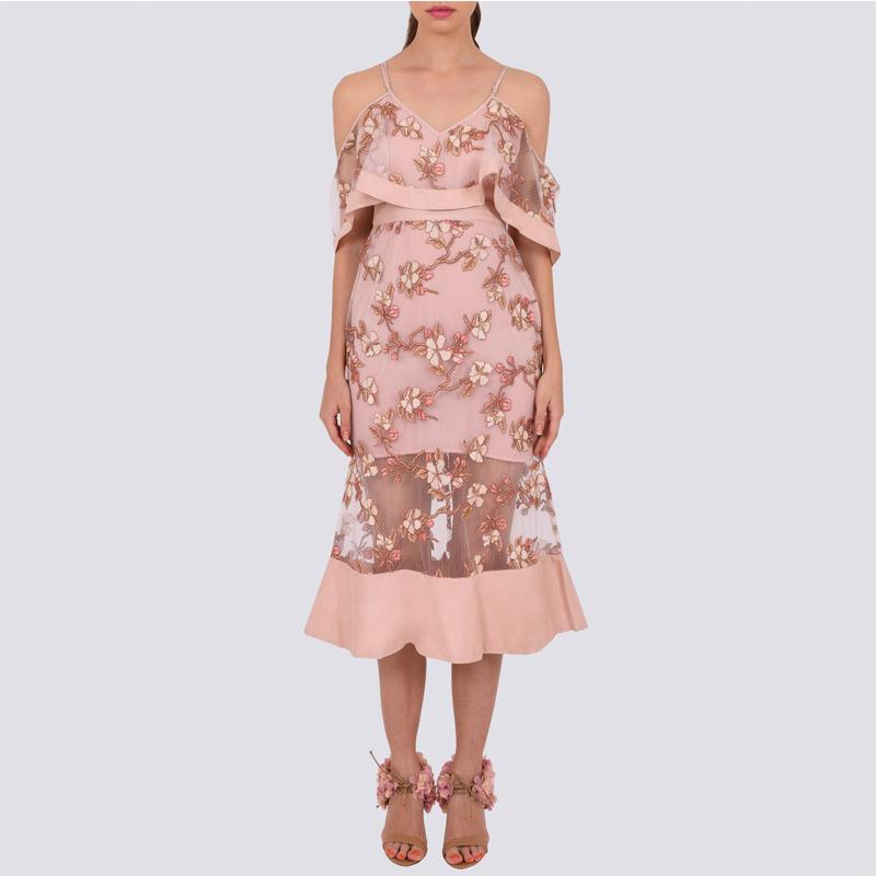 Crystalized dress blush pink