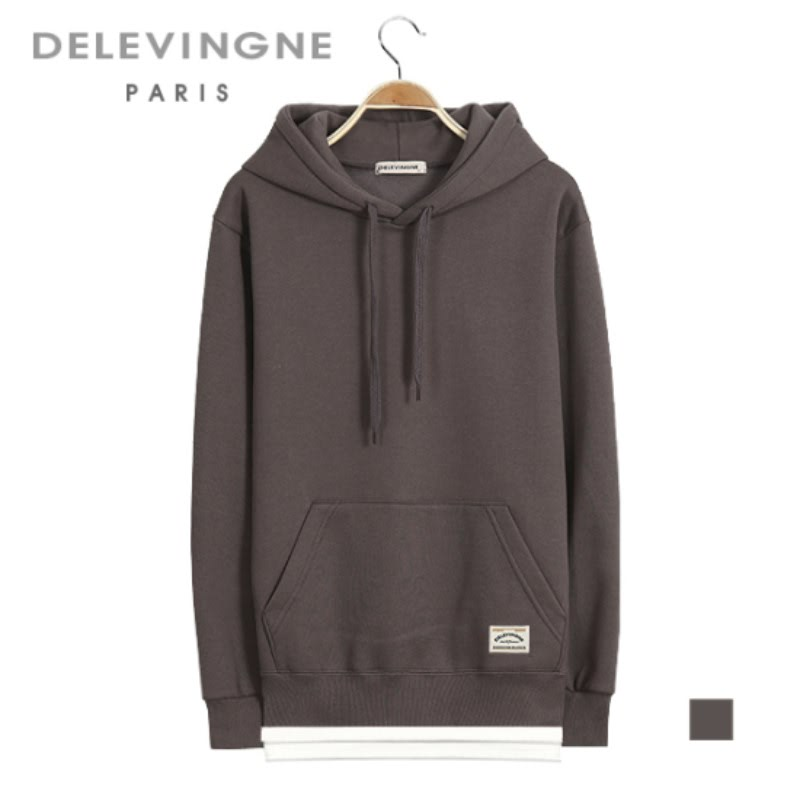 Claire Layered Cocoa Hoodie Long Sleeve Big Size Unisex