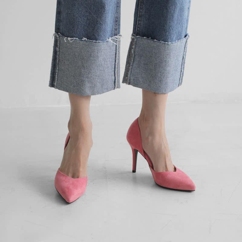 SAPPUN Oh, Chloe Suede Stiletto Heel (9cm) - Pink