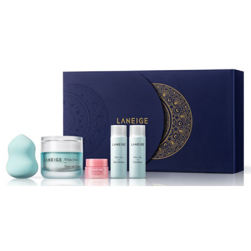 Laneige Limited Edition Package White Dew Tone-up Cream 50ml +  White Dew Skin Refiner 25ml + White Dew Emulsion 25ml + Lip Sleeping Mask S 3G