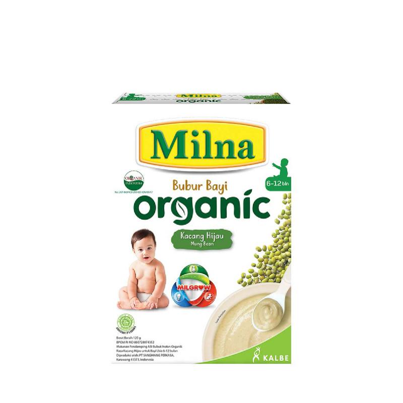 Milna Bubur Organik 6+ Kacang Hijau 120 Gr