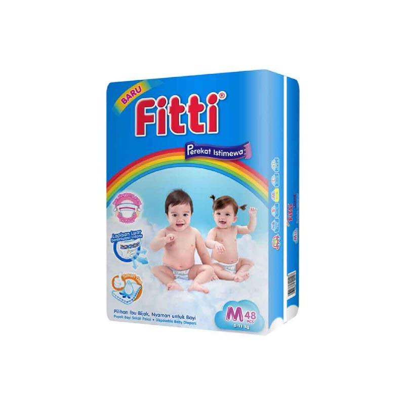 Fitti Popok Bayi Basic Jumbo Pack M 48 Pcs