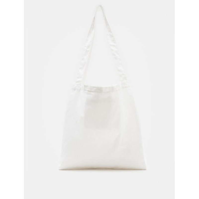 8 seconds Women White Linen Two Pocket Handle Ecobag