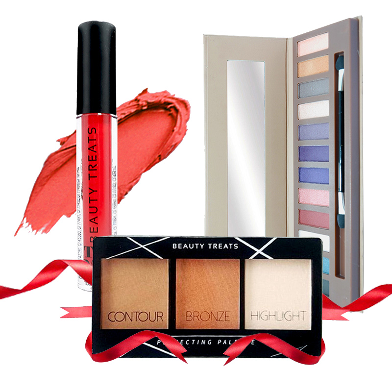 Beauty Treats Naked Eyeshadow No. 02 + Perfecting Pallete No. 02 FREE True Matte Lip Color No. 06