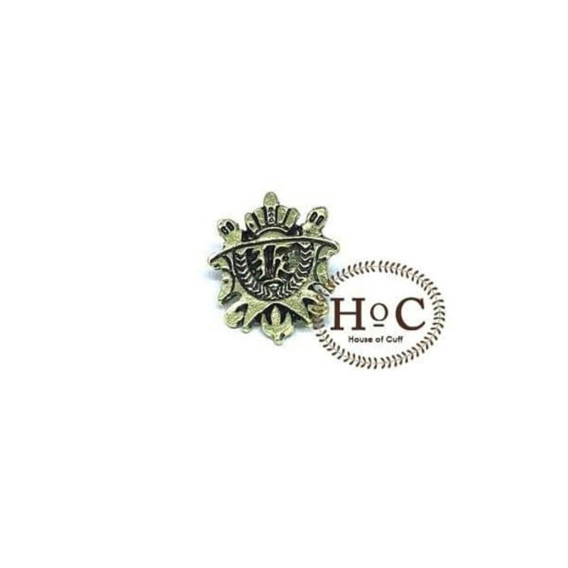 House Of Cuff Lapel Pin Bros Jas Wedding Best Man Shield Bronze Brooch