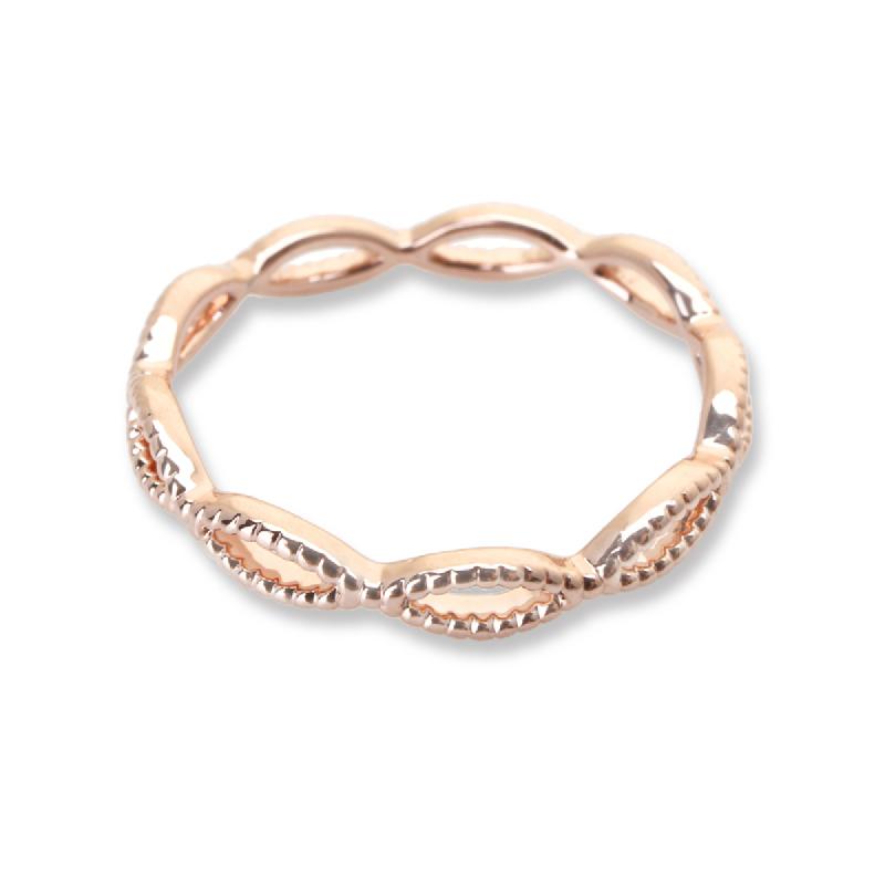 Cocoa Jewelry Cincin Infinite Line Rose Gold Color