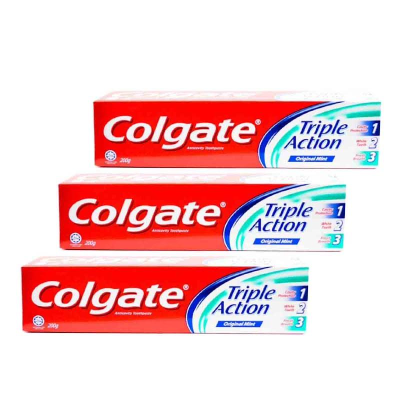 Colgate Toothpaste Triple Action 200Gr (Buy 2 Get 1)