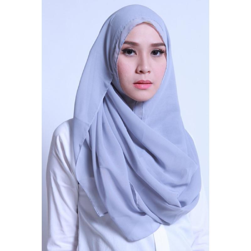 BIA by Zaskia Mecca Kerudung Ceruti Amara Silver S3