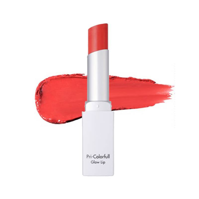 Aqutop Pri-Colorfull Glow Lip - 03 Palerose Pink