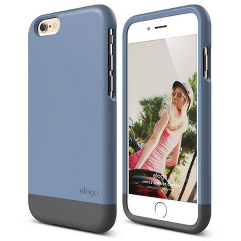 Elago Glide Case for iPhone 6 - SF Royal Blue + SF Dark Gray