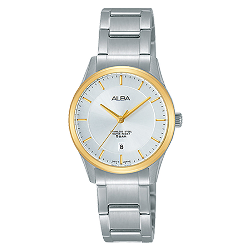 Alba AH7L74X1 White Dial Stainless Steel