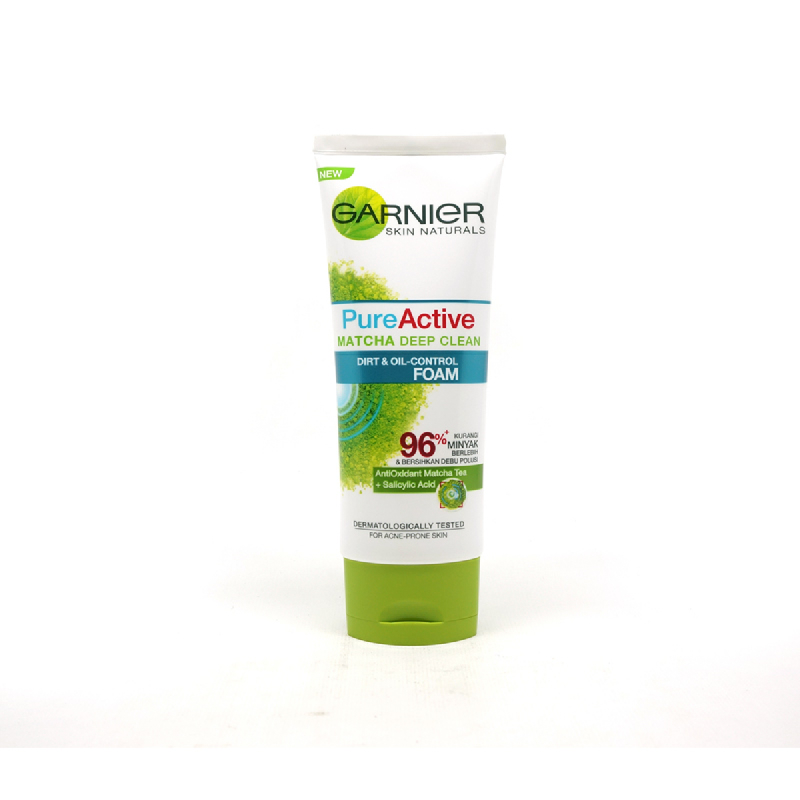 Garnier Facial Foam Pure Active Matcha 100 Ml