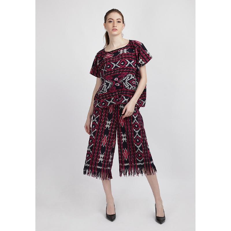 Batik Etniq Craft Jenny Tenun Set Red
