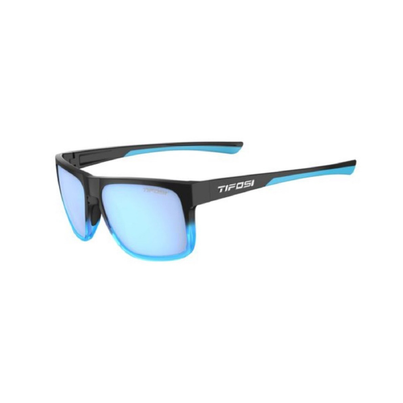 Tifosi Swick Onyx-Blue Fade Sunglasses Sky Blue Lens
