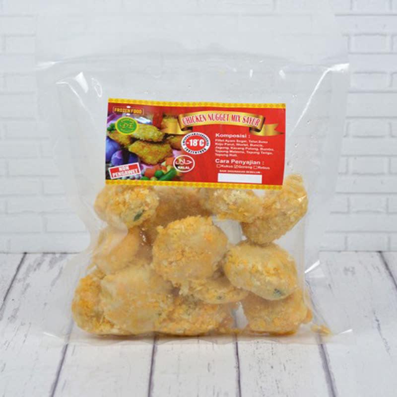 Frozen Chicken Nugget Mix Sayur