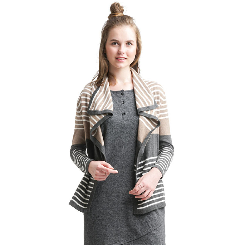 Minimal Ines Striped Cardigan BROWN STRIPE