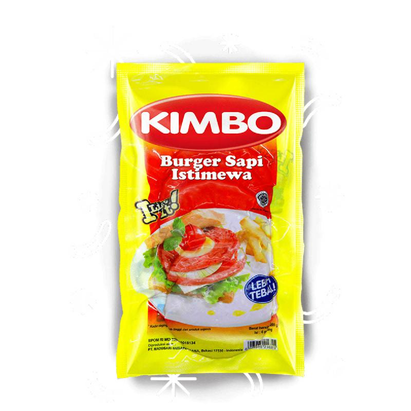 Kimbo Burger Sapi Istimewa 168G Isi 6 Pcs