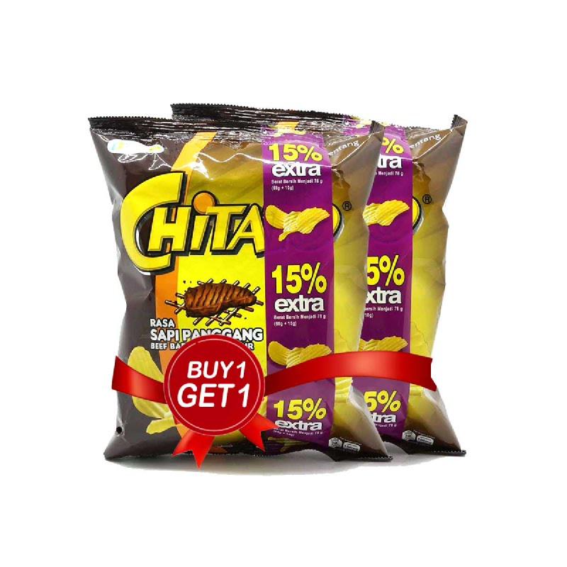Chitato Fam Sapi Panggang 68 Gr (Buy 1 Get 1)