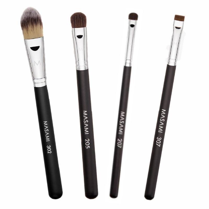 Masami 302 Foundation Brush + 307 Flat Definer Brush + 205 L Lid Brush + 207 S Lid Brush