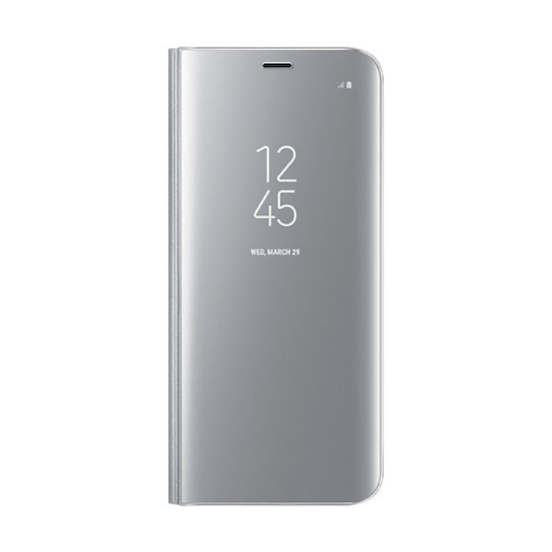 Samsung Clear View Standing Cover For Galaxy S8 - Silver
