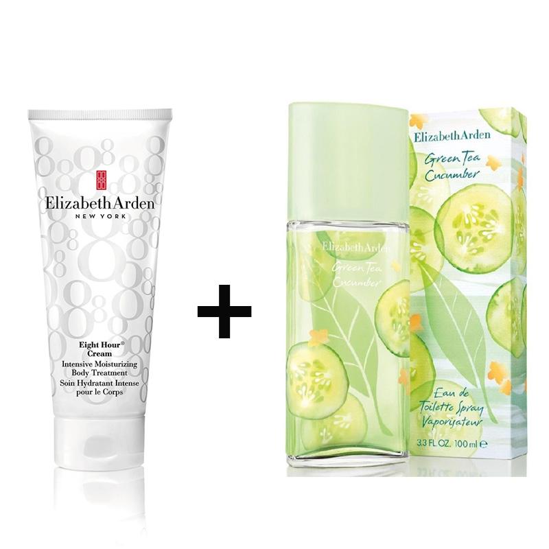 Elizabeth Arden Green Tea Cucumber 100ml+Eight Hour Body Intensive Cream