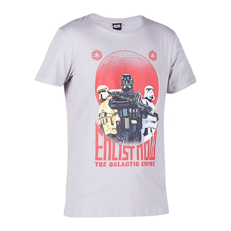 Rogue One The Galactic Empire T-Shirt Kids Grey