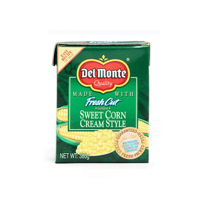 Del Monte Whole Corn Tetra Pack 380 Gr