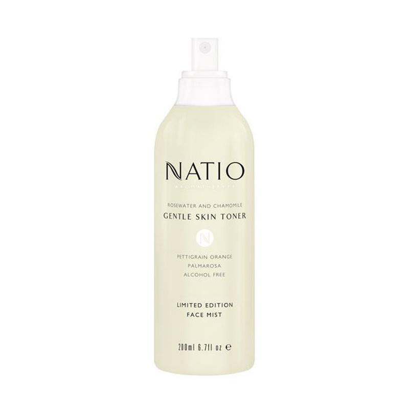 Natio Rosewater & Chamomile Gentle Skin Toner 200ml Spray Mist