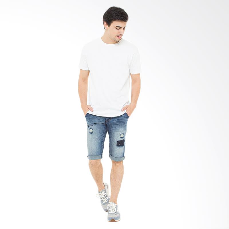 Man Jeans Bronzee Ru Short Slim Fit Celana Pendek Pria