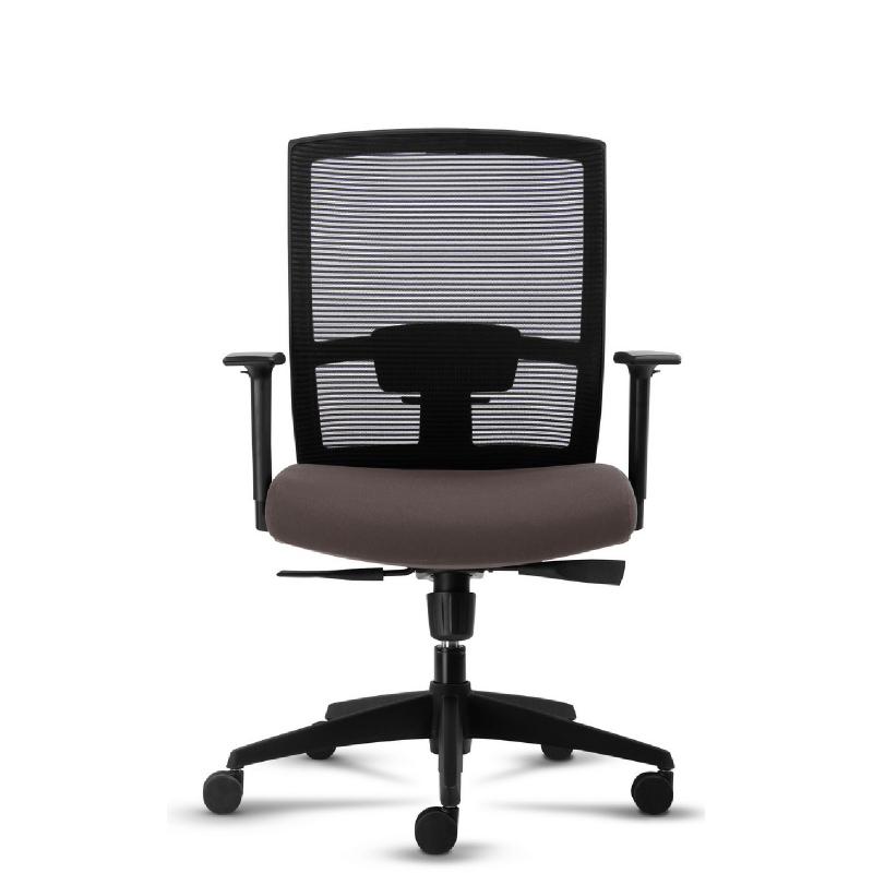 HighPoint Fontana Kursi Kantor-D227DM Brown Pvc Leather