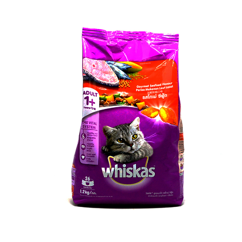 Whiskas Makanan Kucing Salmon Gourment Sfd Pocket 1.2 Kg