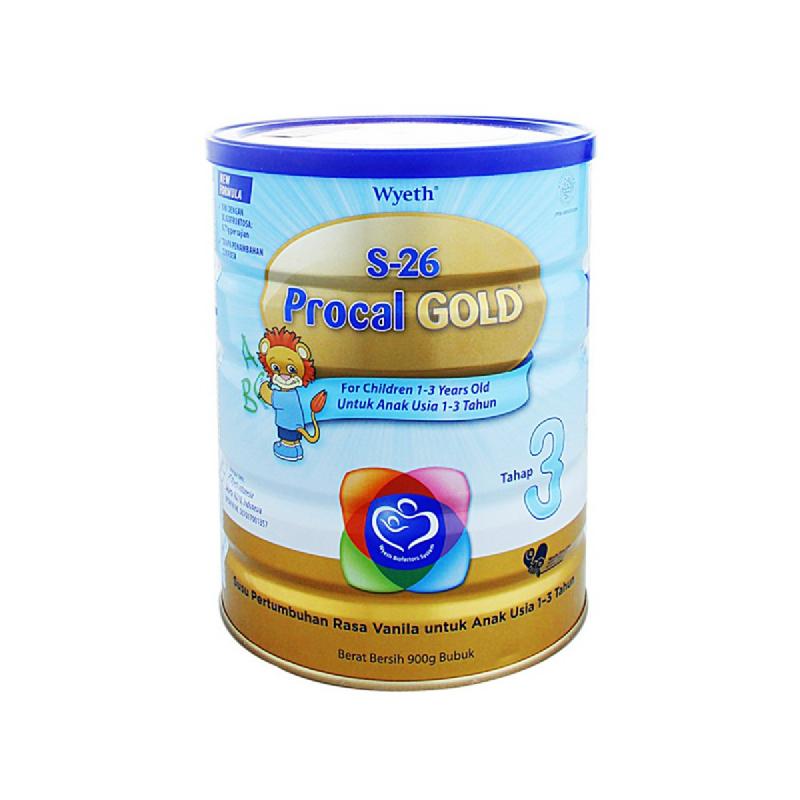 Wyeth Susu Bubuk S-26 Procal Gold Cnl Tin New 900Gr
